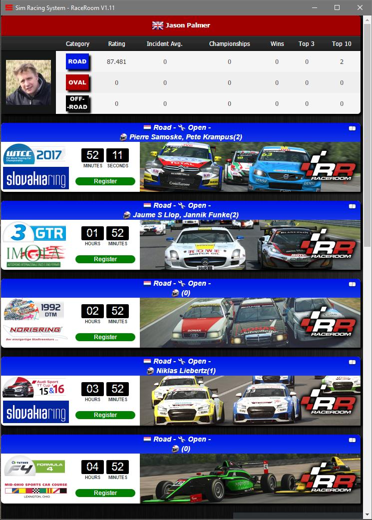 Sim Racing System For RaceRoom - Pitlanes Sim Racing