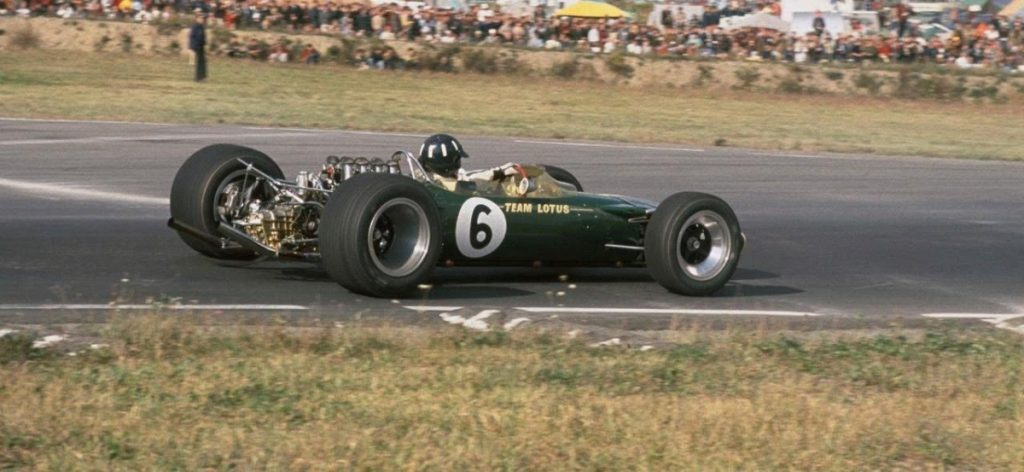 Graham Hill in his Lotus 49