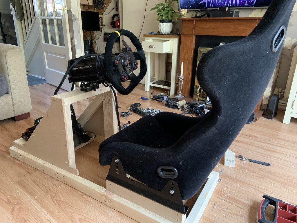 The Building Of A Sim Rig Pitlanes Sim Racing